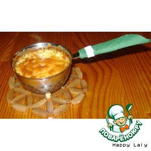 Рецепт: Грибной жюльен с баклажанами