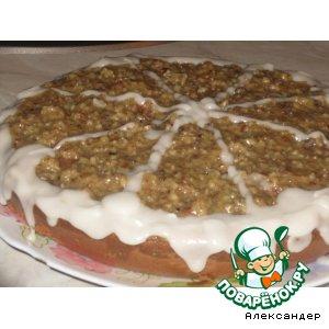 Рецепт: Маковый пирог с ореховой глазурью