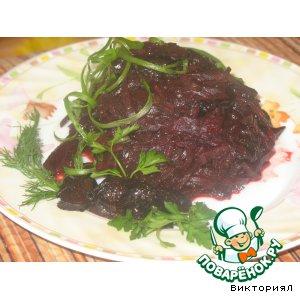 Рецепт Теплый салат из свеклы и чернослива