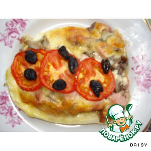 Рецепт: Пицца-кабачок