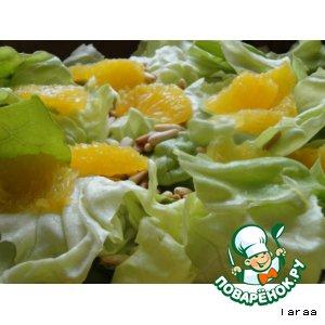 Рецепт: Филе апельсина в салате