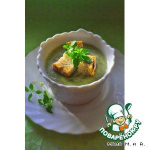 Рецепт: Крем-суп из кольраби с зеленью