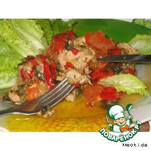 Рецепт: Свинина с овощами Травяное изобилие