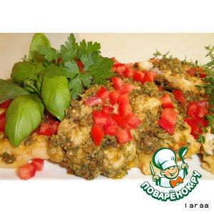 Рецепт Рыбная закуска с песто