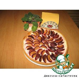 Рецепт: Сливово-творожный пирог