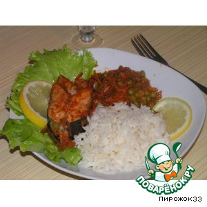 Рецепт: Горбуша по-болгарски