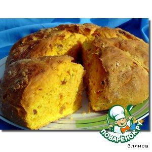 Рецепт: Сладкий тыквенный хлеб