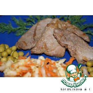 Рецепт: Свинина в соевом соусе с имбирем