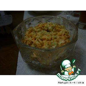 Рецепт: Салат морковный с сухариками