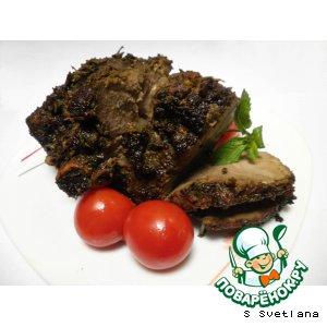 Рецепт: Окорок бараний в мятном маринаде