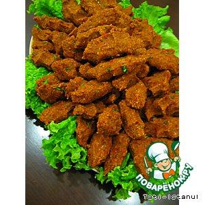 Рецепт: Турецкие сырые котлеты Чий кeфте