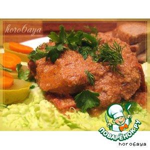 Рецепт: Свиные стейки в ореховом соусе