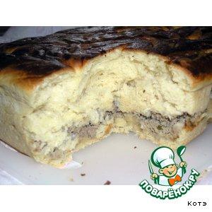 Рецепт: Дрожжевой пирог с мясом