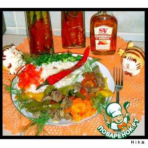 Рецепт: Тушеная баранина  с  овощами