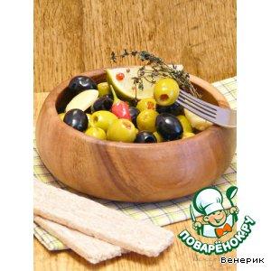 Рецепт: Оливки маринованные/Aceitunas Alinadas