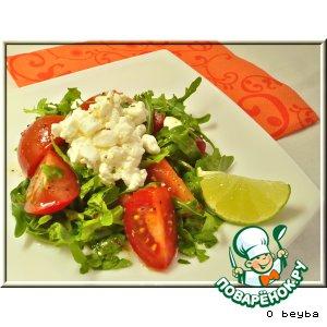 Рецепт: Салат с зерненым творогом