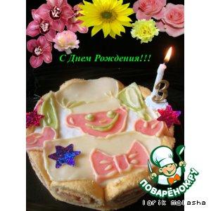 Рецепт: Праздничный торт Воздушный Поваренок