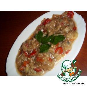 Рецепт: Салат на мангале для шашлыка