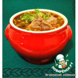 Рецепт: Ирландский суп из баранины с зелeным горошком Drunken Sailor