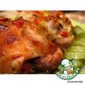 Рецепт: Куриные бедрышки в кисло-сладком соусе