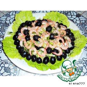 Рецепт: Салат Изумрудная свежесть