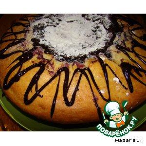 Рецепт: Творожный пирог со смородиной