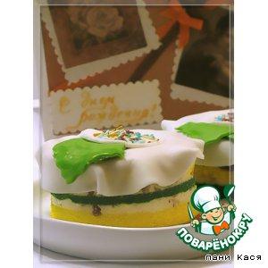 Рецепт: Пирожные В цветах Поваренка