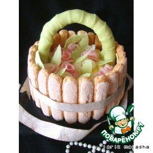 Рецепт: Праздничный торт Корзинка роз