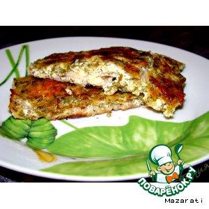 Рецепт: Рыба в сырно-сливочном соусе