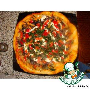 Рецепт: Пицца постная