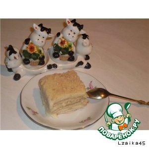 Рецепт: Ленивый торт Бурeнка