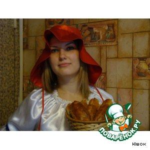 Рецепт: Пирожки с начинкой от Красной шапочки