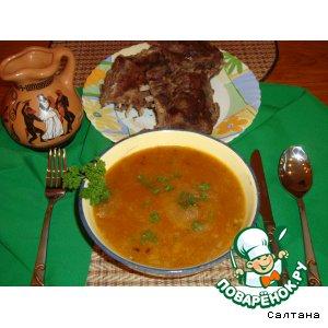 Рецепт: Грузинский суп-харчо