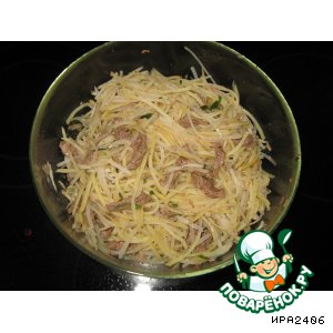 Рецепт: Картофельный салат По-корейски