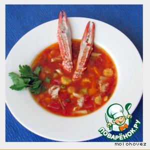 Рецепт: Крабовый суп по-мэрилендски