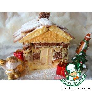 Рецепт: Торт Снежная избушка