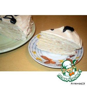 Рецепт: Медовый торт на сковороде