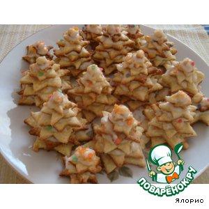 Рецепт: Новогоднее печенье Елочки