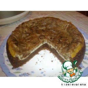 Рецепт: Пирог шоколадно-творожный