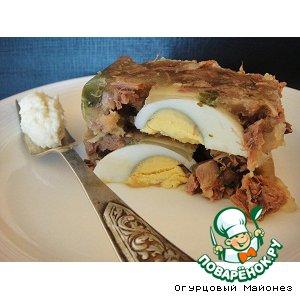 Рецепт: Холодец из бычьего хвоста «Коляда»