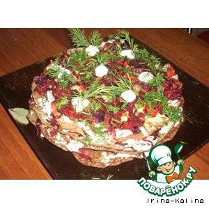 Рецепт: Печеночный нео-торт Бордо