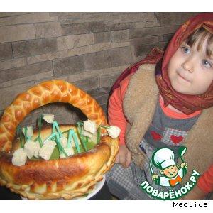 Рецепт: Горохово-куриный суп-пюре Корзинка подснежников