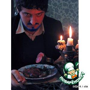 Рецепт: Ужин аристократа Говядина Шатобриан с вишневым соусом