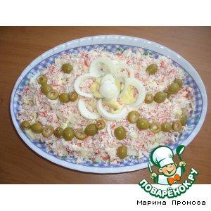 """Рецепт: Салат """"Гвоздика"""""""