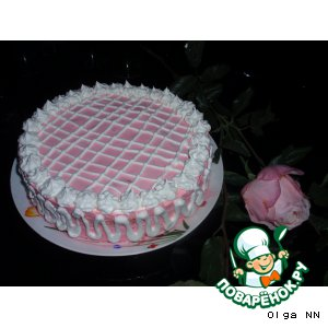 Рецепт: Торт «Розовый снег»
