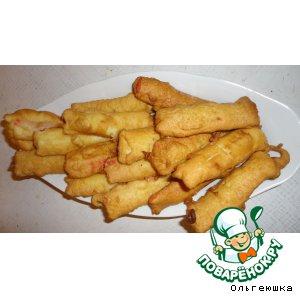 Рецепт: Крабовые палочки в сырном кляре