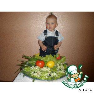 Рецепт: Овощная закуска с семгой Чиполлинка