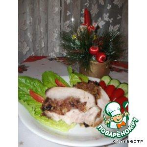 Рецепт: Свиные стейки на косточке фаршированные