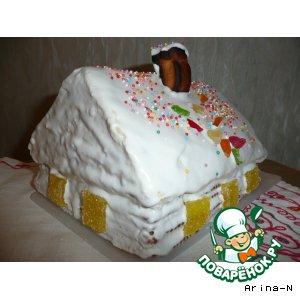 """Рецепт: Торт """"Сказочный домик"""""""