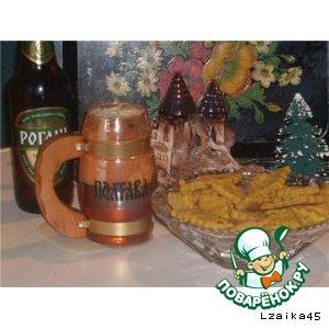 Рецепт: Луковое печенье на пиве